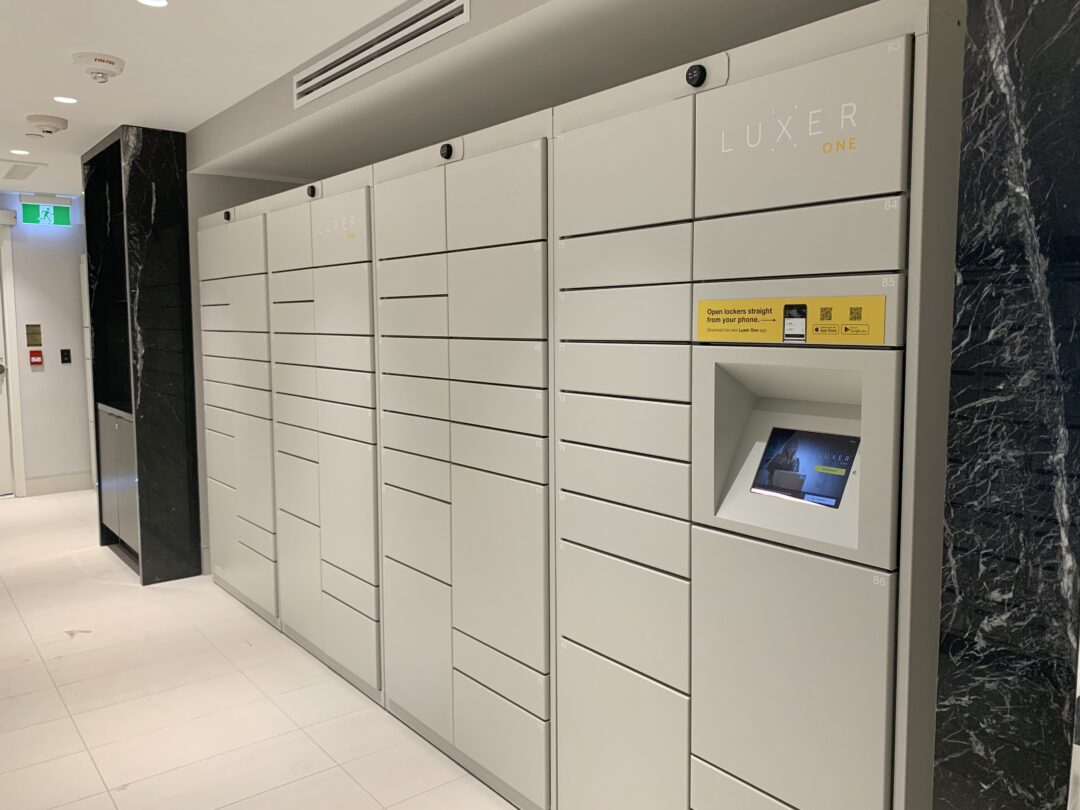 Lockourier package lockers at 18 Erskine condo Toronto