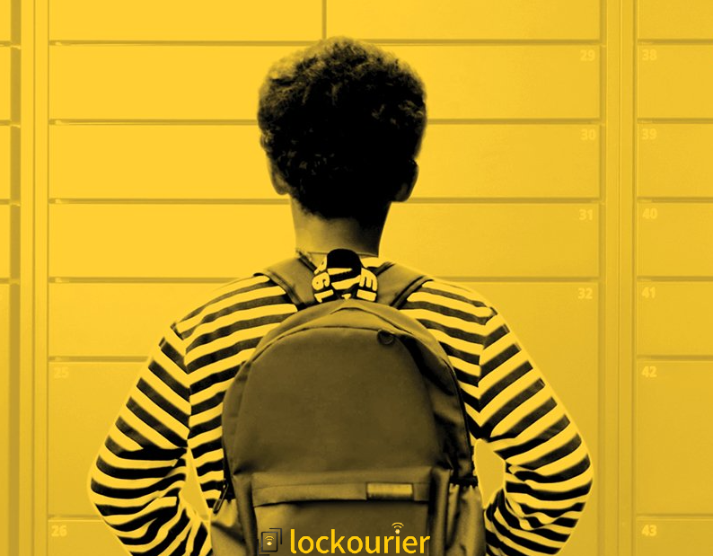 Lockourier package lockers for students laptop contactless delivery and pickup at school