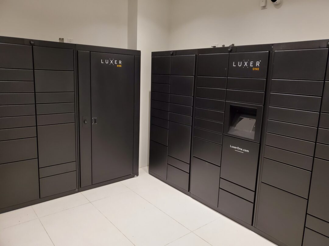 Lockourier lockers at Daniels Waterfront Lighthouse Tower in Toronto